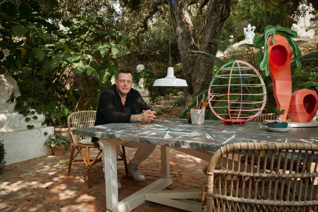 Artist Urs Fischer at home