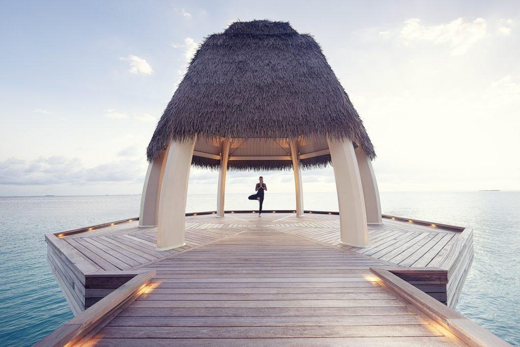 The meditation and yoga pavilion at Ithaafushi