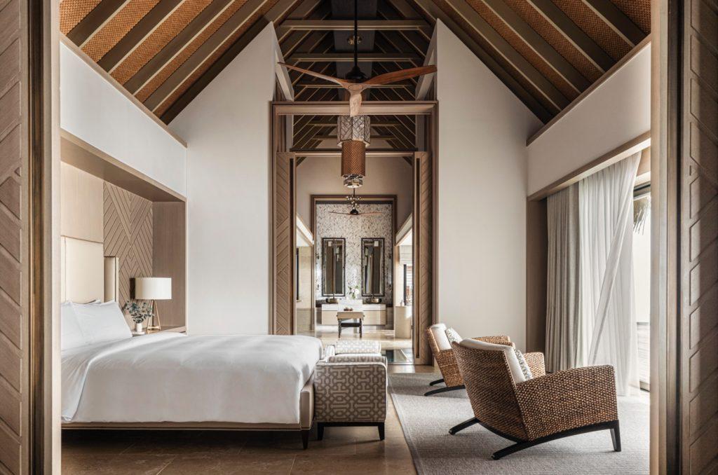 Inside the three bedroom villa