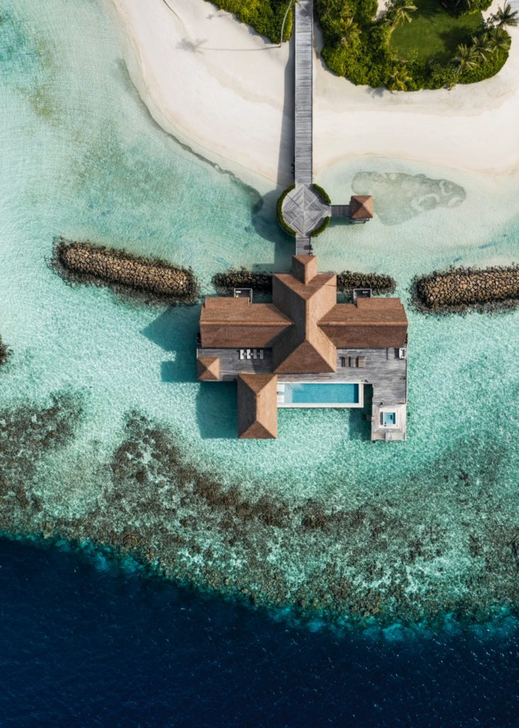 The overwater villa at Ithaafushi