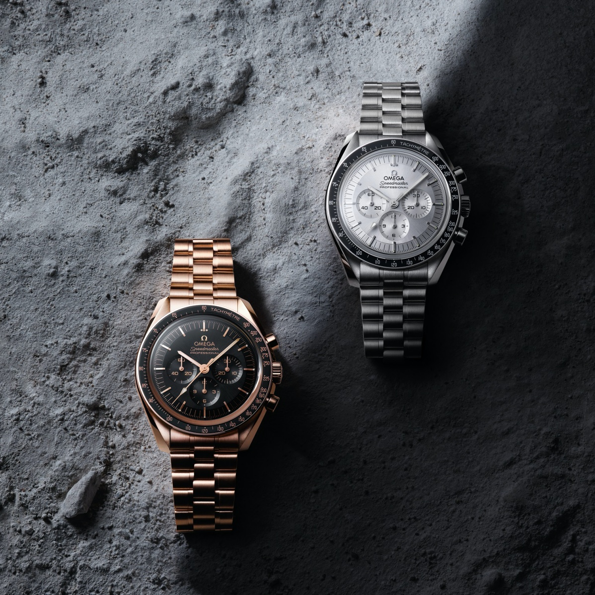 The Omega Speedmasters in gold