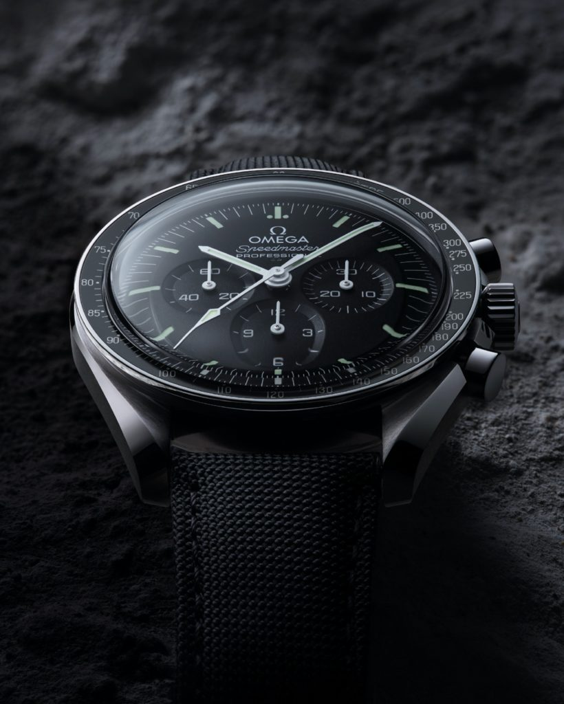 The Omega Speedmaster Moonwatch in steel