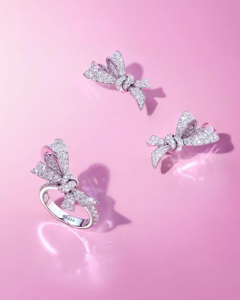 Graff Tilda's Bow rings and earrings