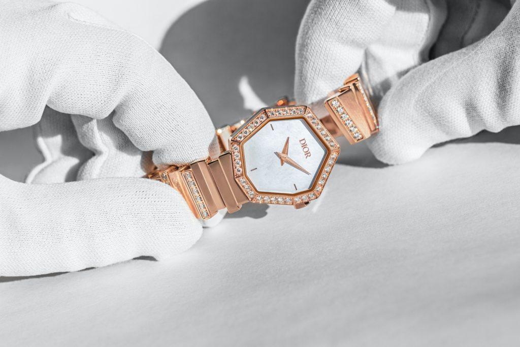Rose gold Gem Dior timepiece