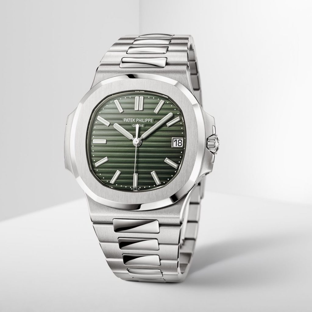 Patek Philippe Nautilus ref. 5711 with an olive-green dial
