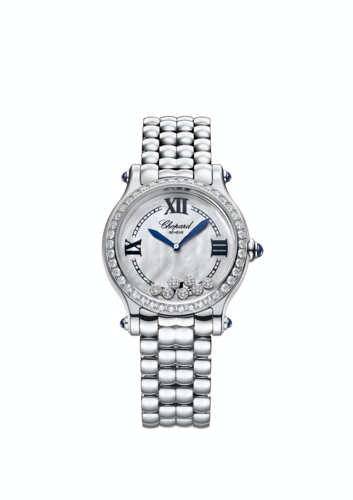 Chopard Happy Sport the First with a diamond bezel