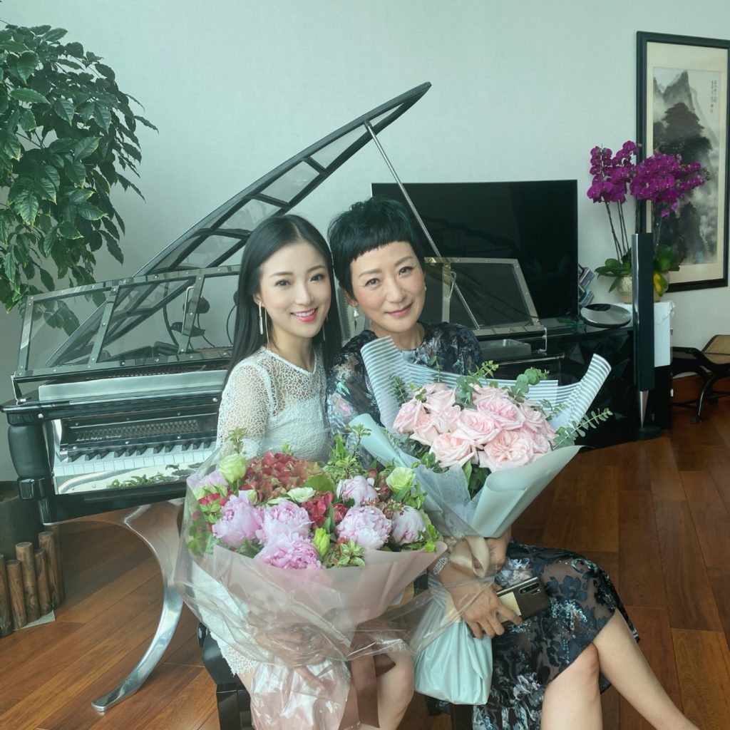 Sabrina Chan and her mother
