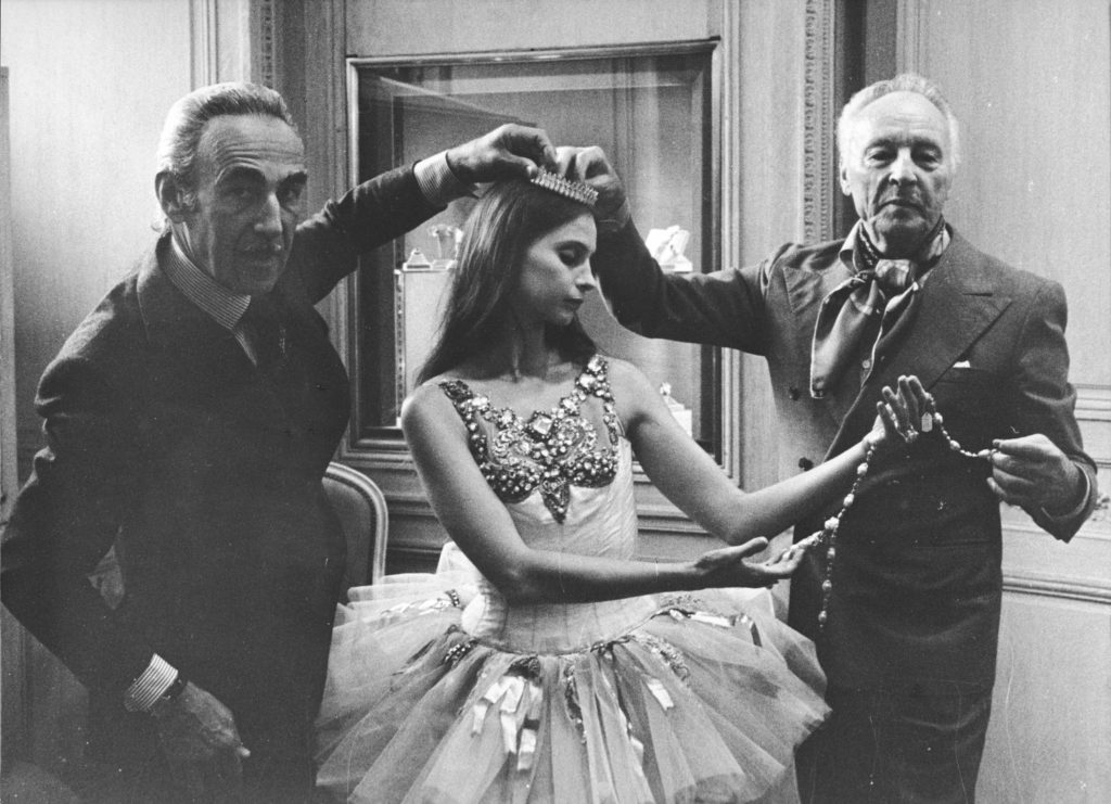 Pierre Arpels, ballerina Suzanne Farrell and choreographer George Balanchine