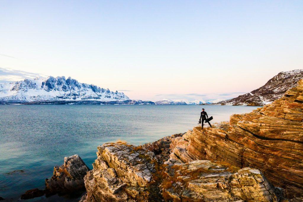 Tudor ambassador Morgan Bourc'his shooting the documentary The Quest for Nature (Image: Franck Seguin)