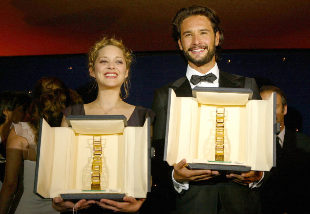 Marion Cotillard, Rodrigo Santoro, Trophee Chopard 2004