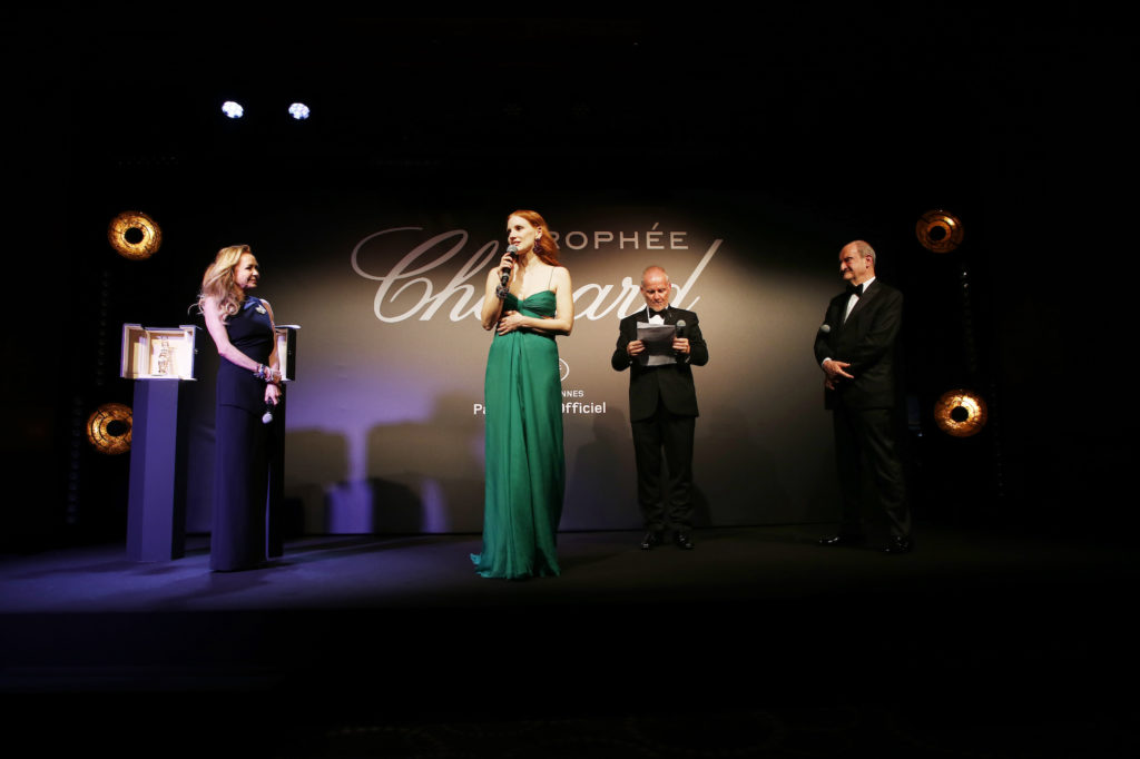 Jessica Chastain, Caroline Scheufele, Thierry Frémaux, Pierre Lescure