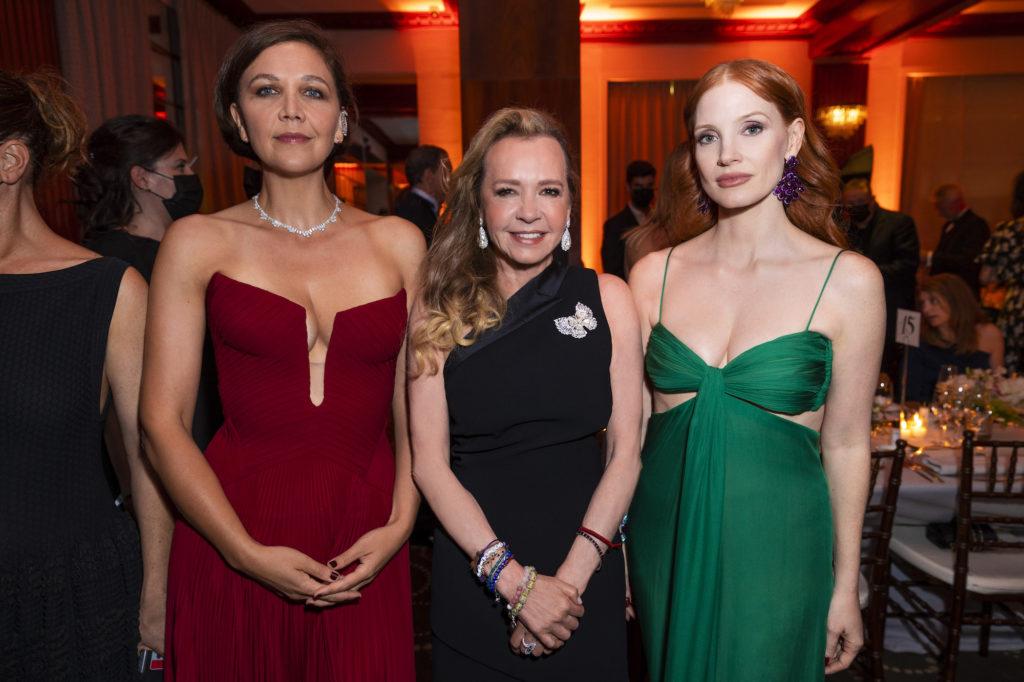 Maggie Gyllenhaal, Caroline Scheufele and Jessica Chastain