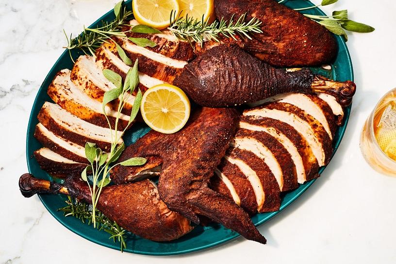 Spatchcocked Smoked Turkey