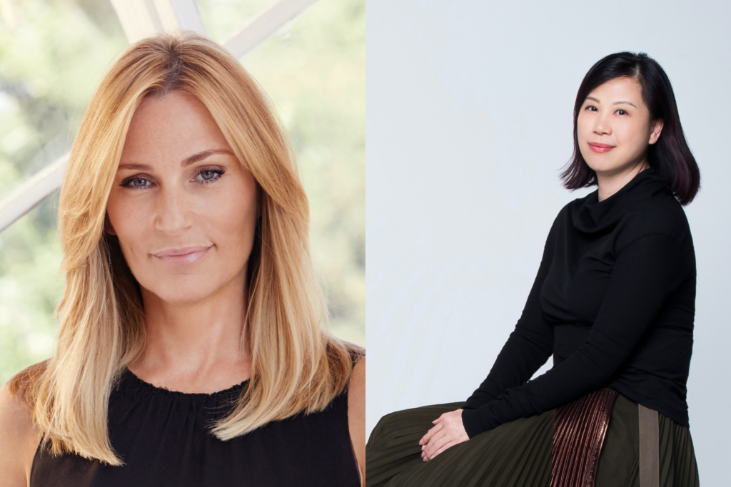 Our beauty experts: Newby Hands, global beauty director at Net-a-Porter and Harriet Lee, chief strategic advisor at Joyce Beauty