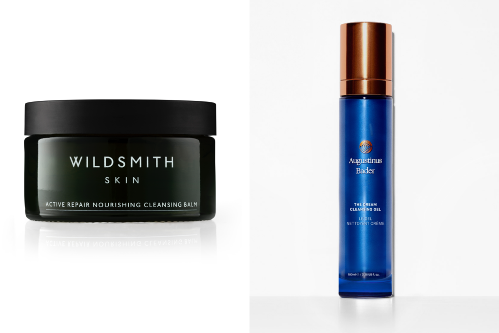Wildsmith's Cleansing Balm and Augustinus Bader's The Cream Cleansing Gel