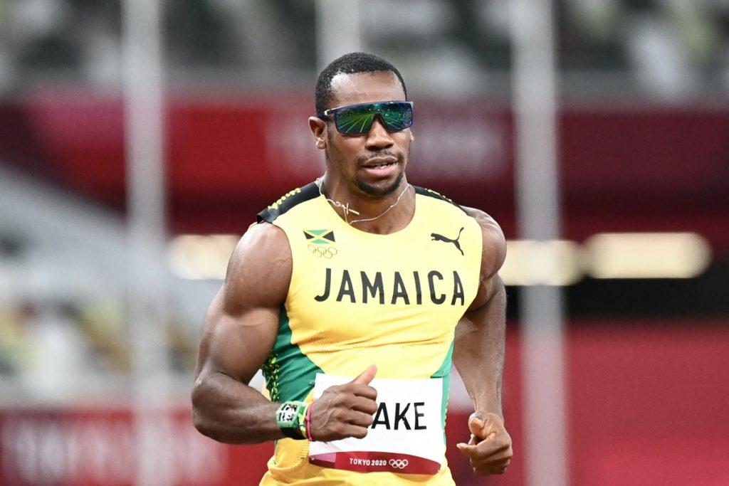 Yohan Blake at the Tokyo Olympics