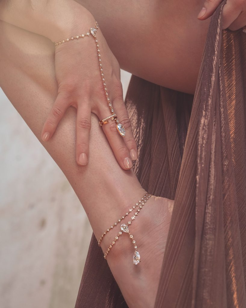 Anklets and wristlets in the Messika Magnetic Attraction collection