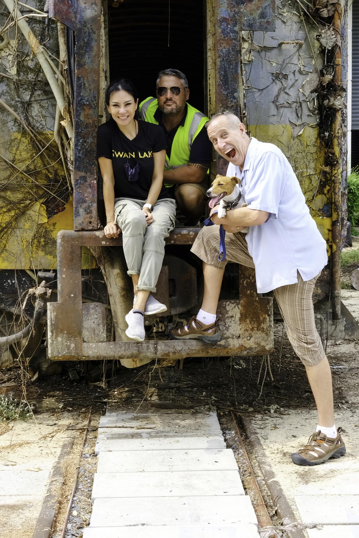 Bill Bensley train carriages hotel Thailand Khao Yai