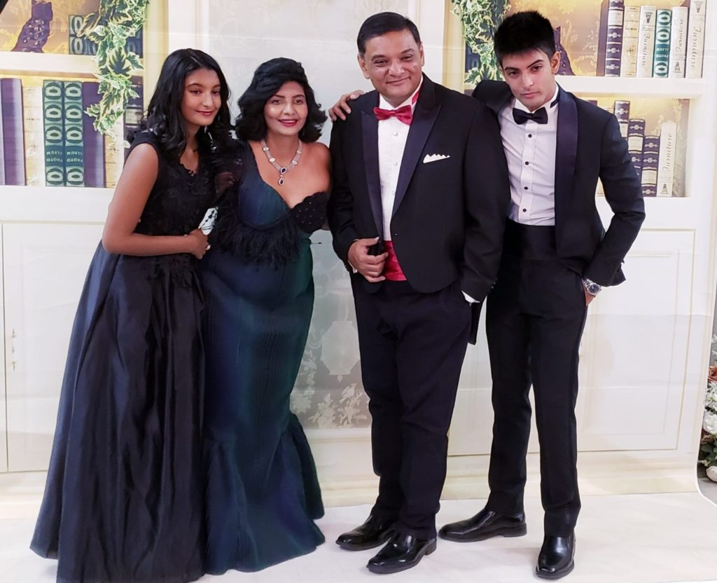 Aradhna Dayal with her family