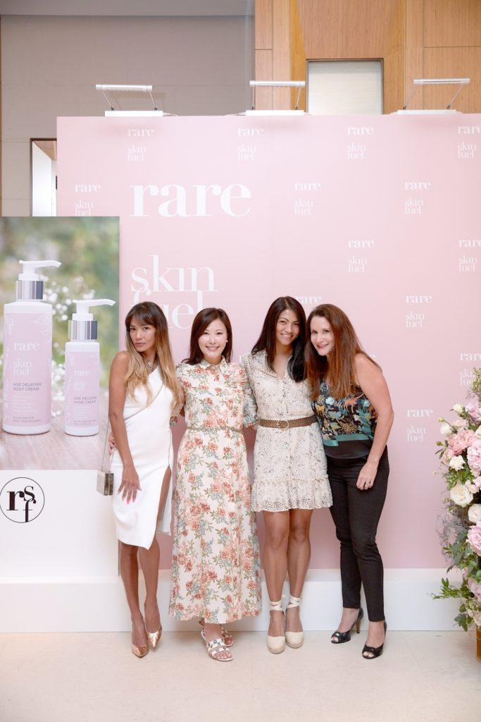 Guests at the Rare SkinFuel Body Collection launch