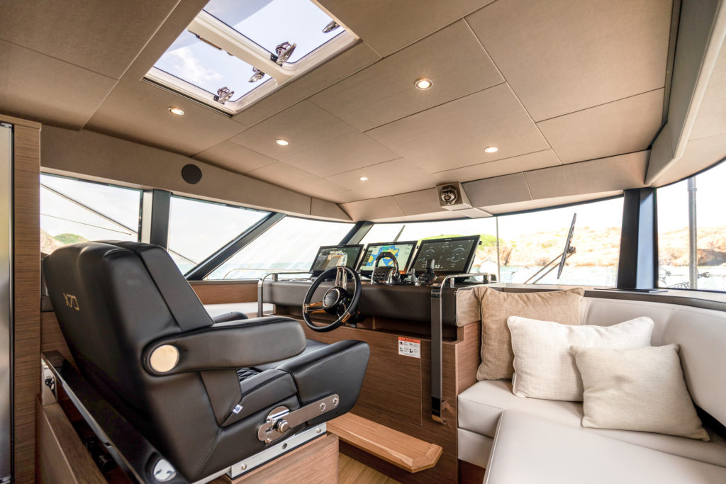 Prestige Yachts X70 Flagship Interior Helm Station
