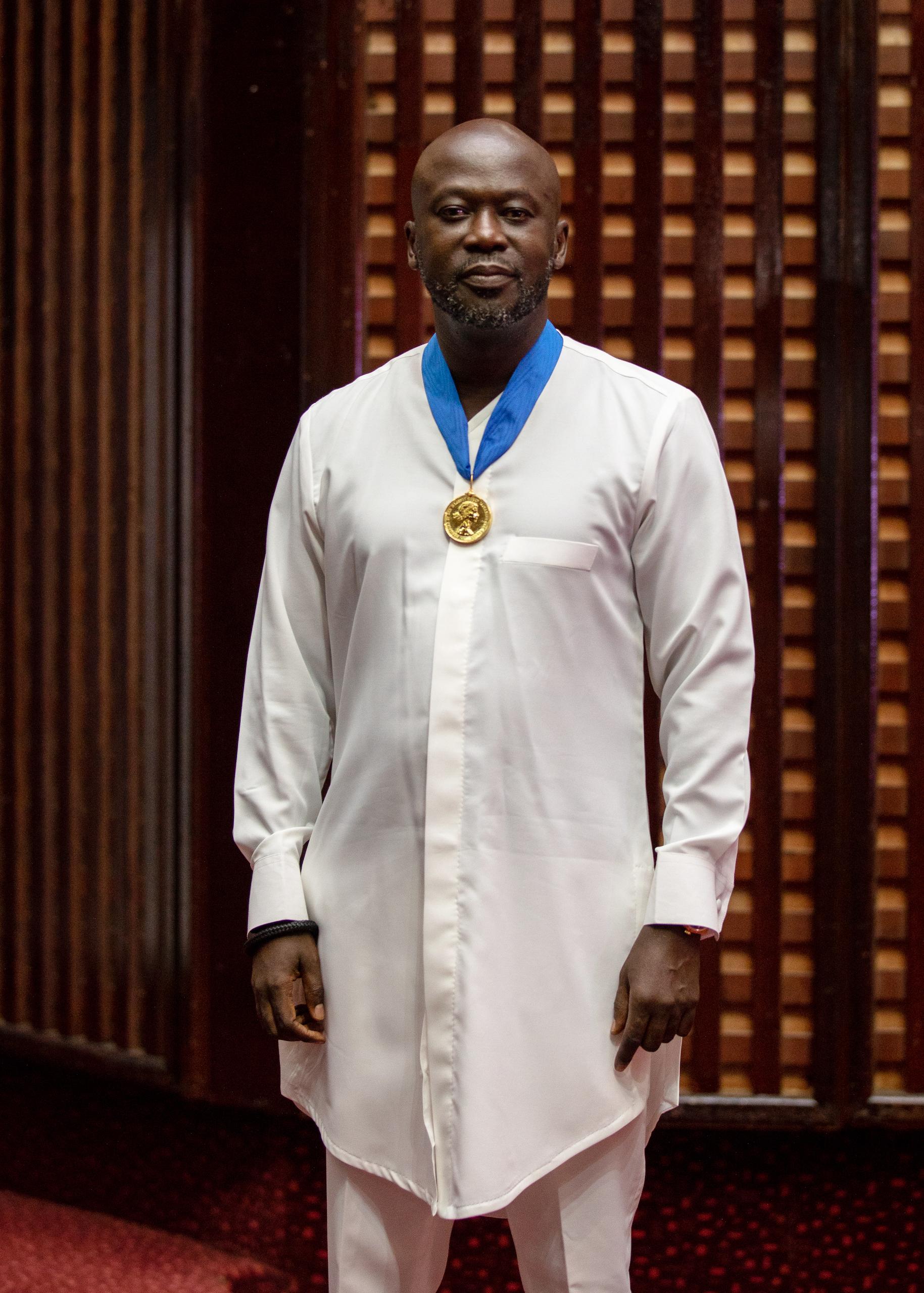 Ghanaian-British Architect Sir David Adjaye receiving the RIBA 2021 Royal Gold Medal for Architecture