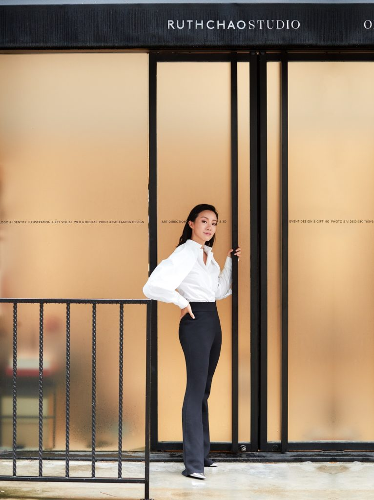 Ruth Chao in front of Ruth Chao Studio