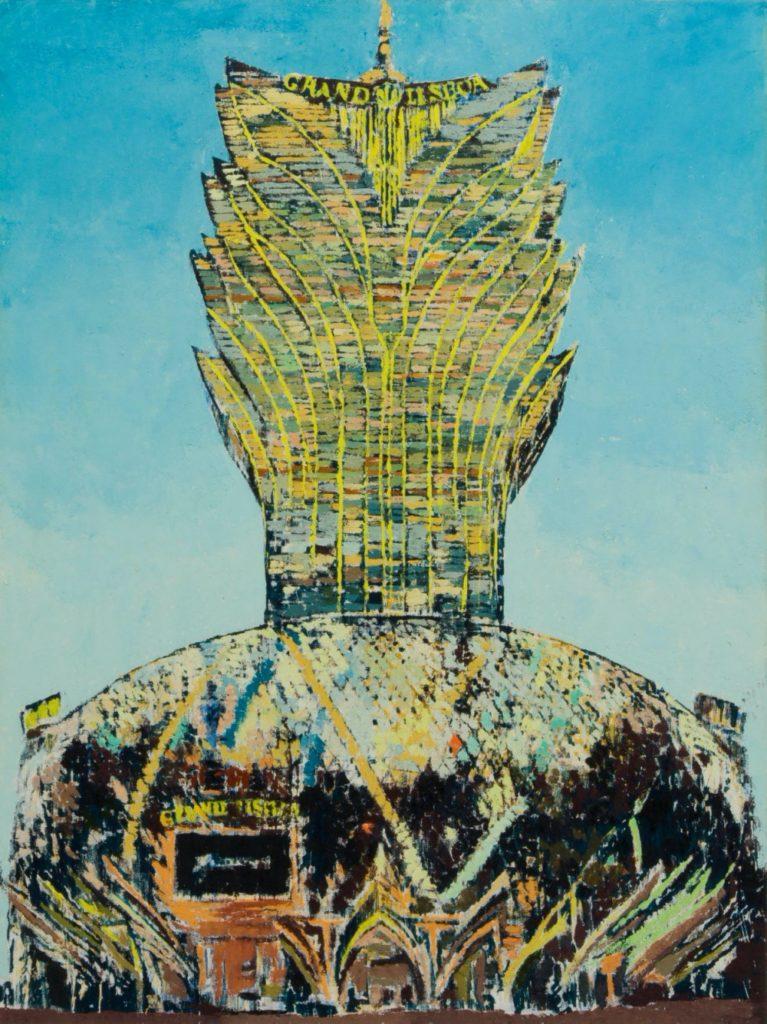 Enoc Perez, Grand Lisboa, 2017, oil on canvas, 203.2 x 152.4 cm; (80 x 60 in.)