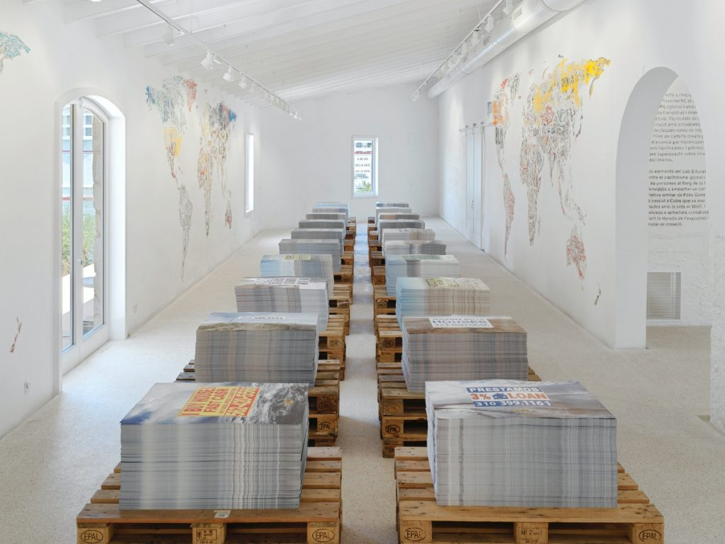 View of Mark Bradford's work at Hauser & Wirth's Isla del Rey gallery. Courtesy of the artist and Hauser & Wirth.