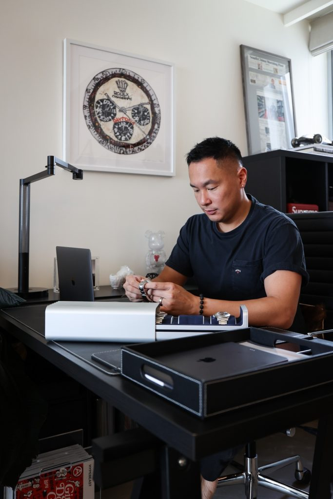 Wil Fang at his home office (Image: Kevin Cureau)