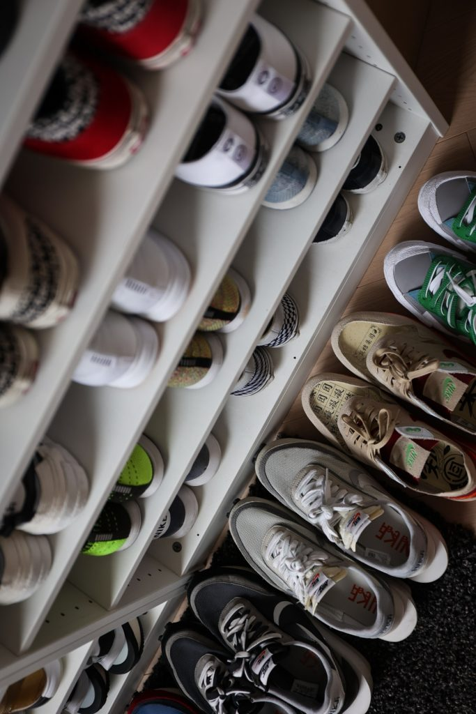 Fang's sneaker collection flourished during his DPT days (Image: Kevin Cureau)