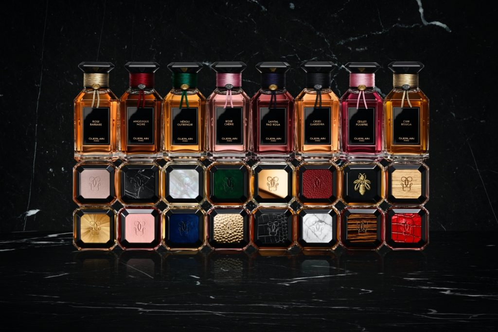 Guerlain L'Art & La Metière fragrance collection with bespoke stoppers