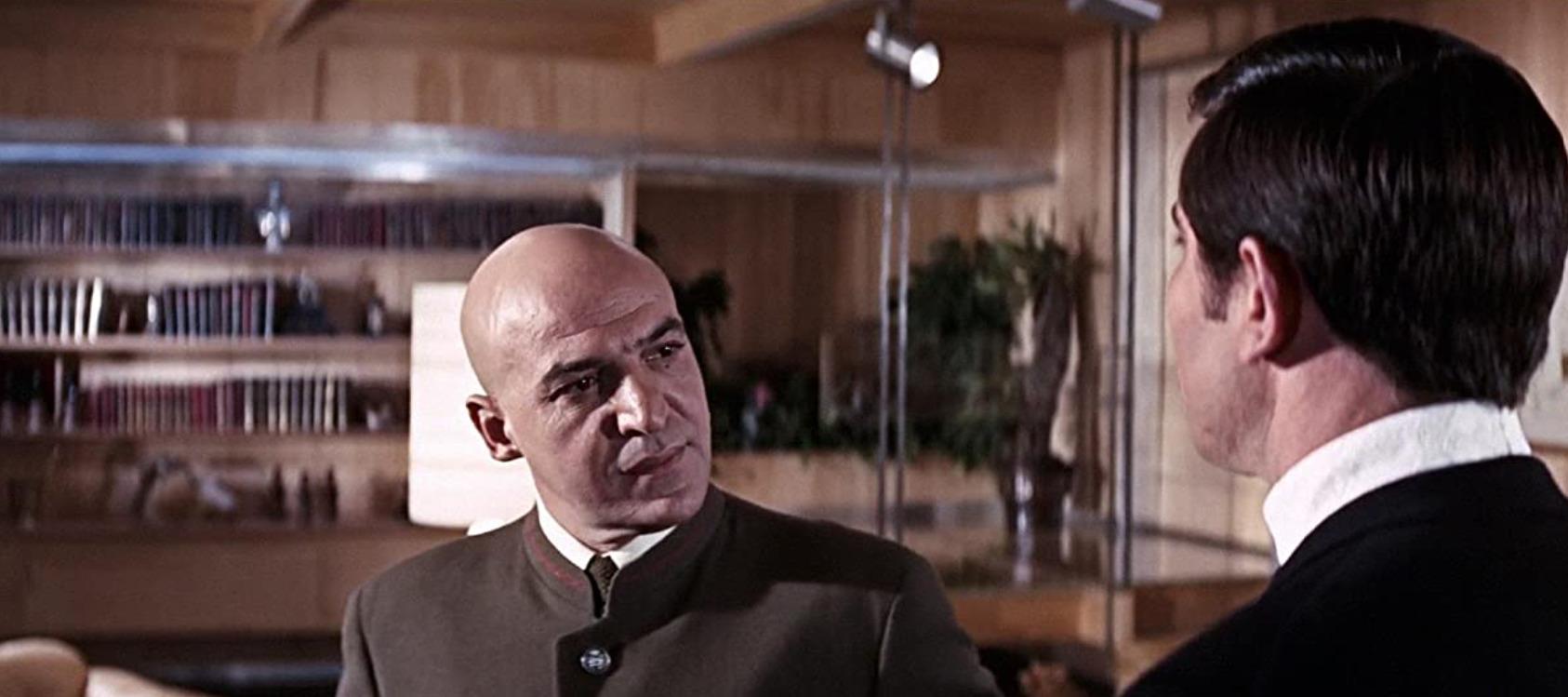 Telly Savalas as Ernst Stavro Blofeld in On Her Majesty's Secret Service