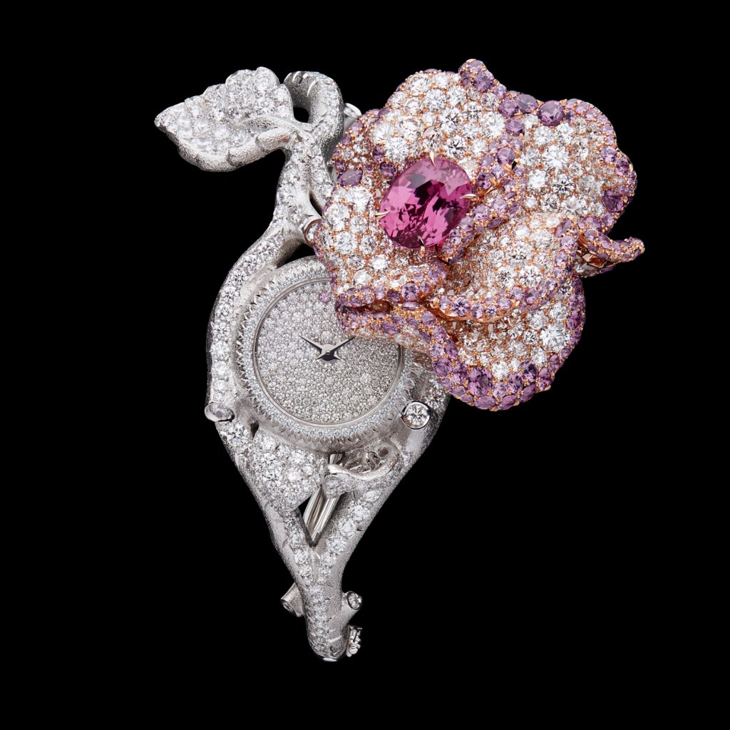 Dior Rose high jewellery secret watch