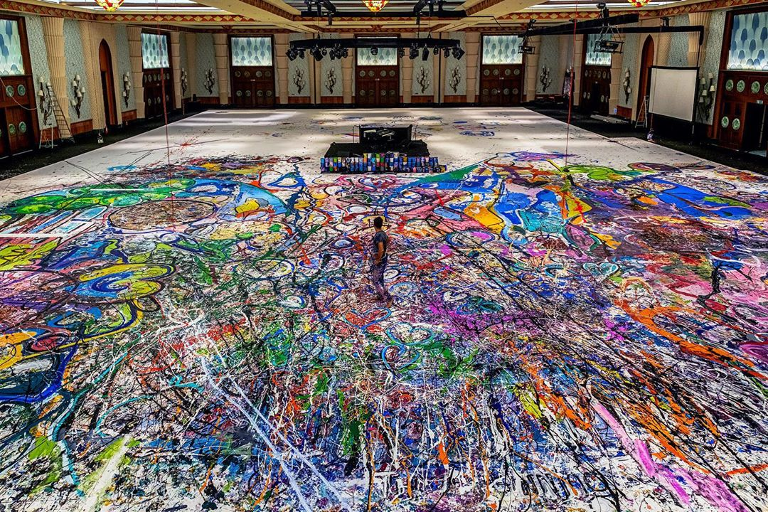 World's Biggest Canvas Painting by Sacha Jafri to go Under the Hammer in Dubai for Charity