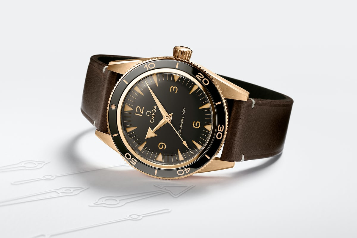 Omega Introduces the Seamaster 300 in Bronze Gold