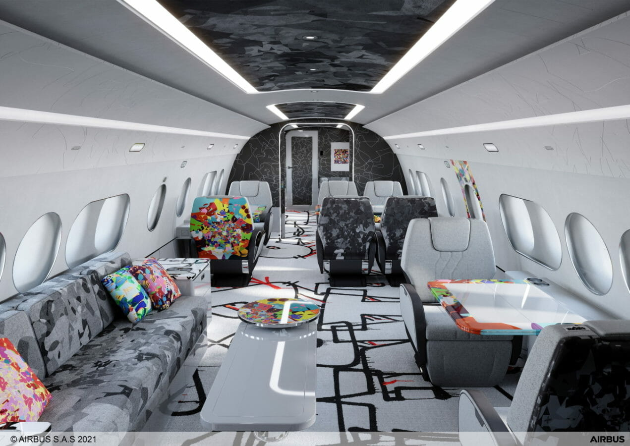 Airbus Corporate Jets presents the ACJ TwoTwenty special cabin edition by Cyril Kongo