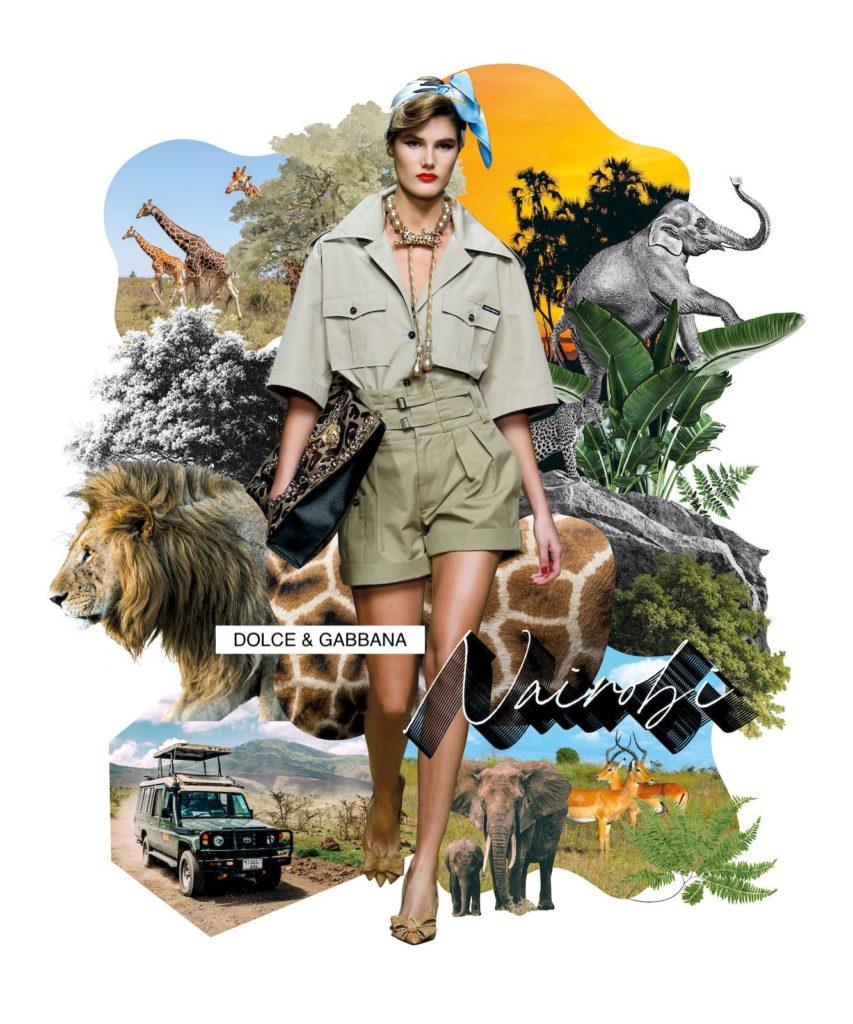 Fashion postcards