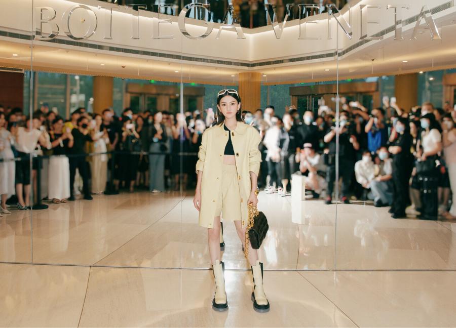 Actress Song Zuer in Bottega Veneta's PF20 Collection