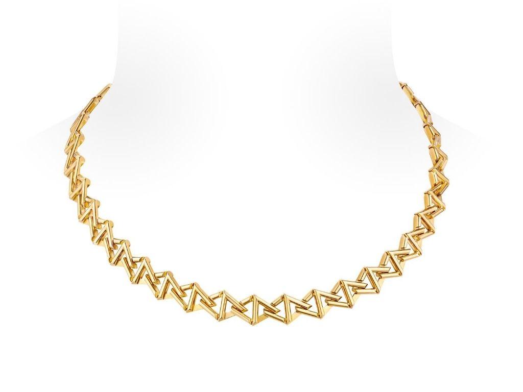 LV Volt Curb Chain Collier