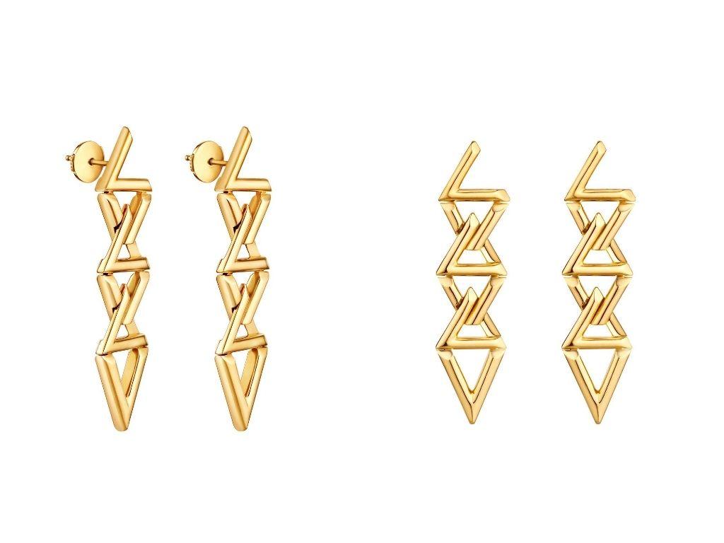 LV Volt Curb Chain Earrings
