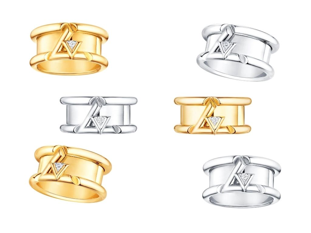LV Volt One Ring in white and yellow gold with diamonds