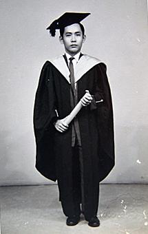 Portrait of Khoo at his graduation