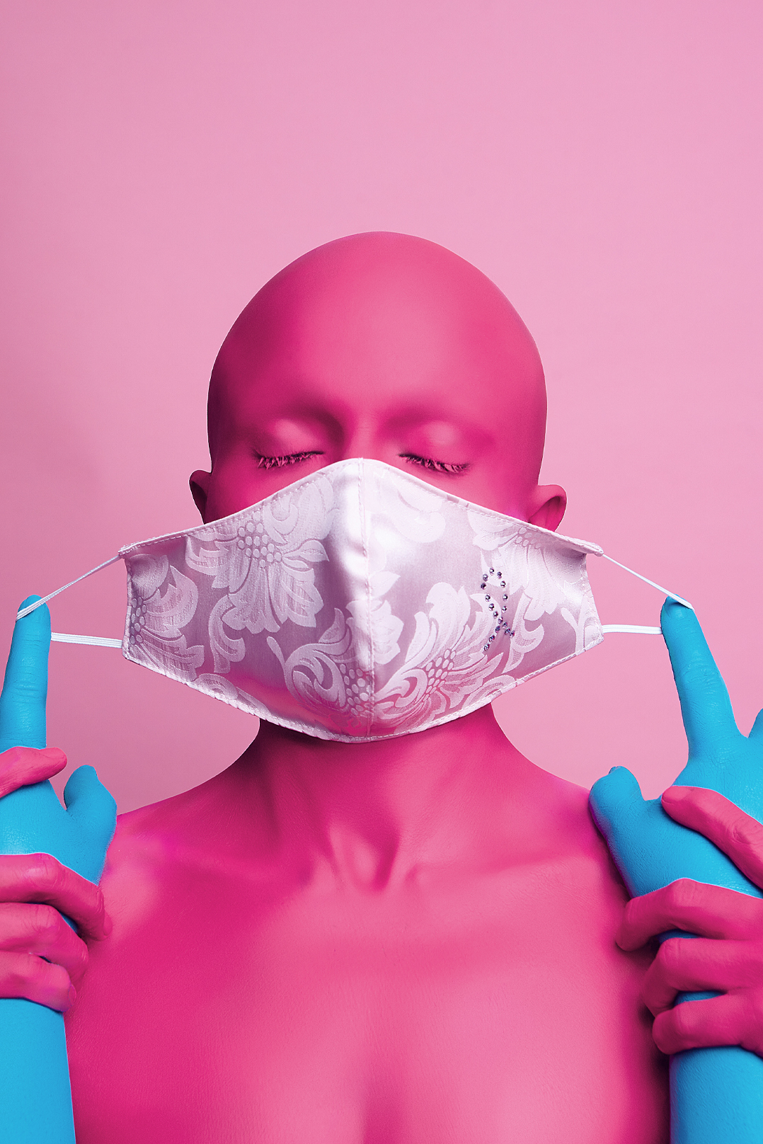 Variante - face mask - Pink October