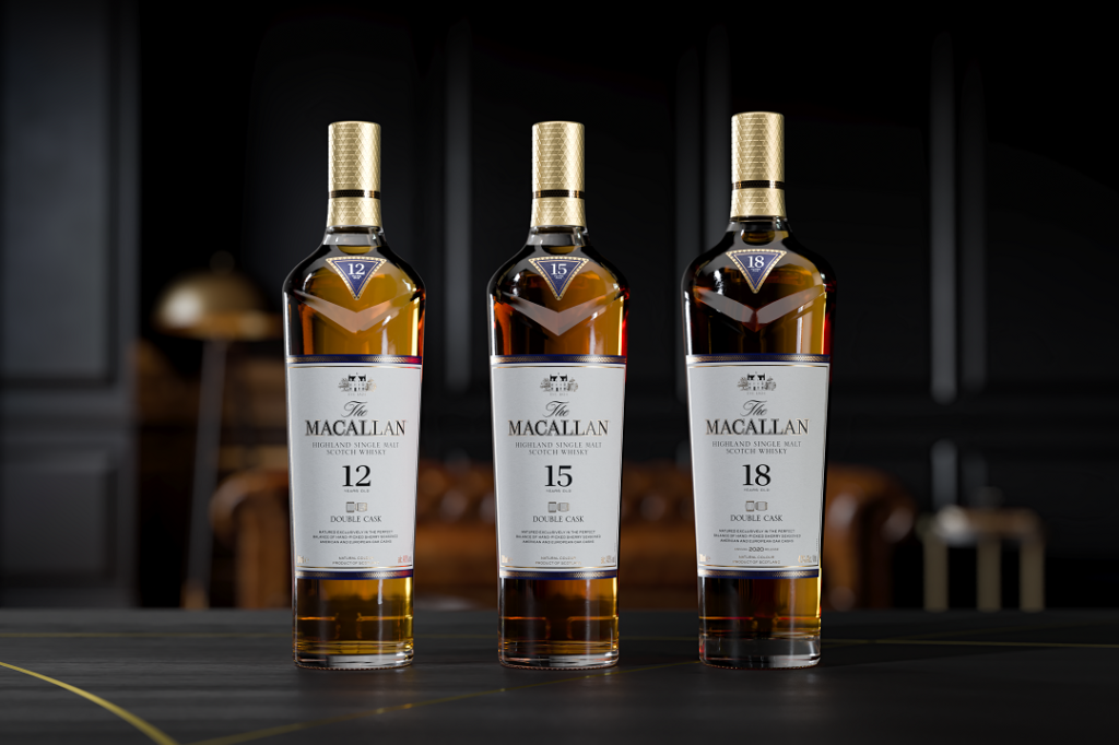 The Macallan Double Cask 12 Years Old, 15 Years Old and 18 Years Old