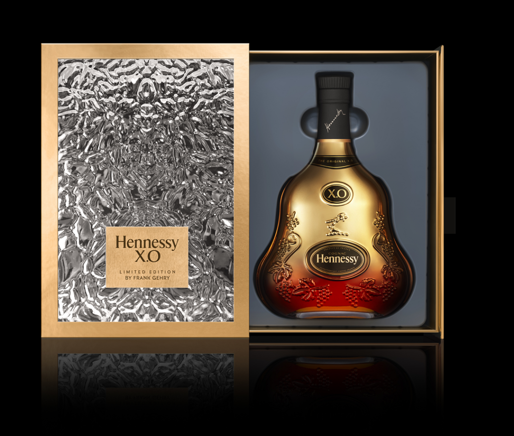 Hennessy X.O 150th anniversary Frank Gehry Limited Edition