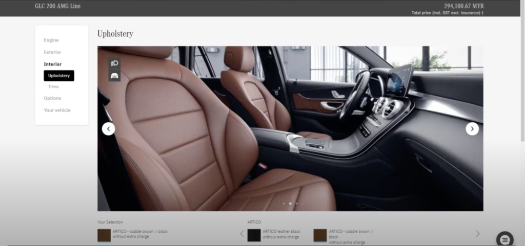 Mercedes-benz virtual showroom