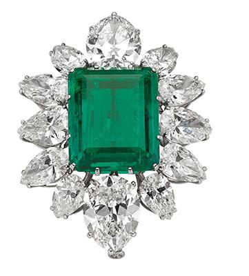 Colombian emerald brooch by Bulgari