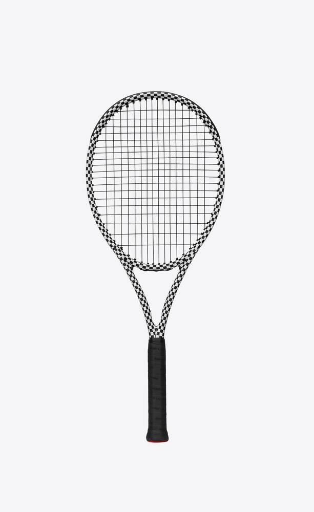 Saint Lauren x Wilson Checkered Tennis Racquet