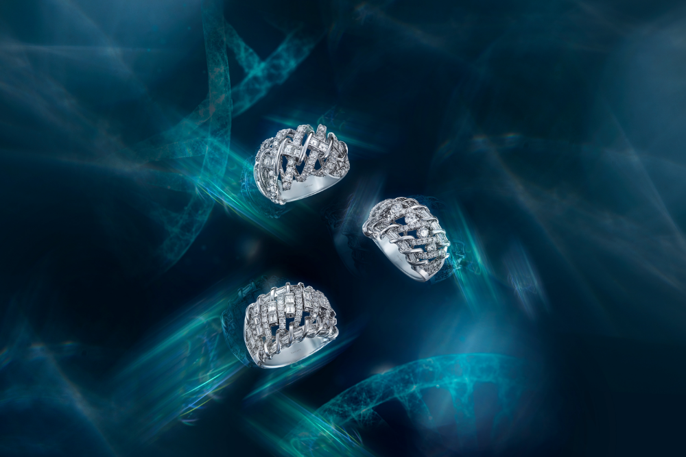 DNA collection diamond rings by DeGem